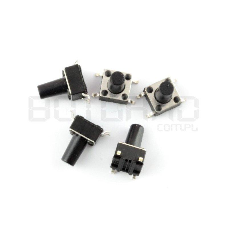 Tact Switch 6x6mm/9,5mm DIP - 5pcs.