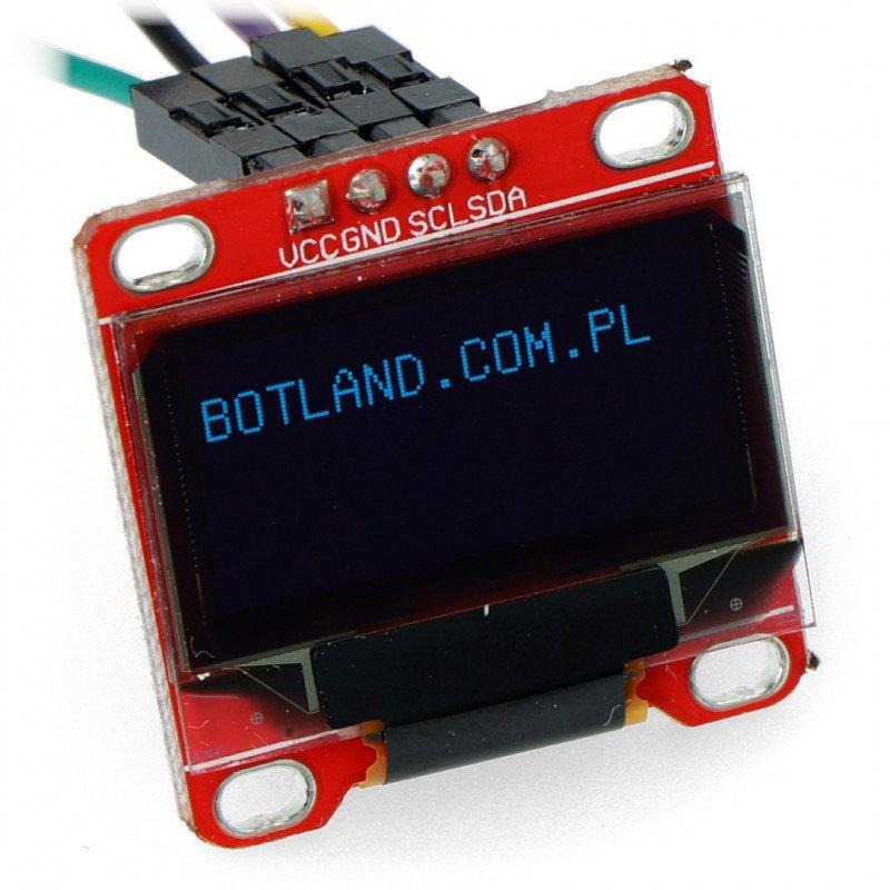 OLED graphic display 0.96 '' 128x64px I2C Blue