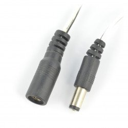 Socket and plug DC 5,5/2,1mm with cable 60cm