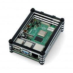 Raspberry Pi Model 4B - black and transparent - LT-4B10