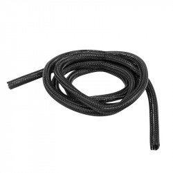 Self-closing braiding for cablesLanberg 13mm black polyester 2m
