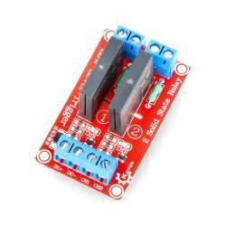 SSR 2A solid-state relay module 2 channels - 240VAC / 2A 5VDC coil - Keyes