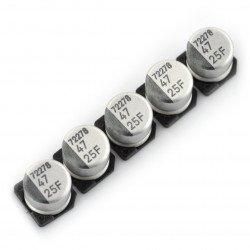 Electrolytic capacitor 47uF/25V SMD - 5 pcs.