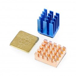 Set of heat sinks for Raspberry Pi with thermal conductive tape + engraver - 3pcs