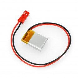Li-Pol Akyga 3,7V 1S 70mAh battery connector + socket 2,54 JST - 2 pins