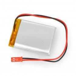 Li-Pol Akyga 3.7V 1S 1800mAh Li-Pol Akyga 3.7V 1S 1800mAh rechargeable battery, connector + socket 2.54 JST - 2 pins -