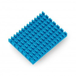 Heat sink 40x30x5mm for Raspberry Pi 4 with thermal conductive tape - blue
