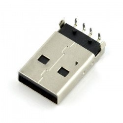 USB plug type A - for THT printing