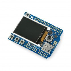 """Display 1.8"""" TFT with microSD reader + Joystick Shield for Arduino"""