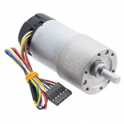 Geared motor 37Dx73L 131:1 12V 76RPM + CPR 64 encoder