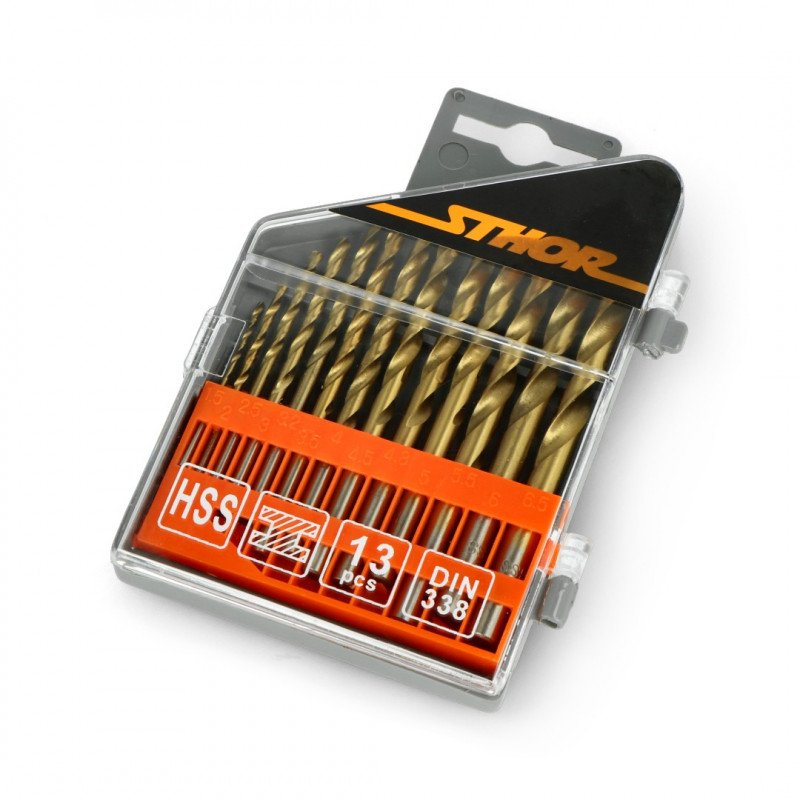 Set of 13 bits for metal Titanium 1.5 - 6.5 mm