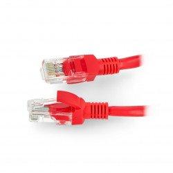 LAN Patch Cord - 0,25m - red