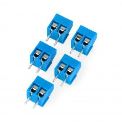 ARK connector raster 3,5mm 2 pin (+) - 5pcs