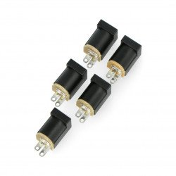 Socket DC 5,5x2,1mm for PCB - vertical - 5pcs