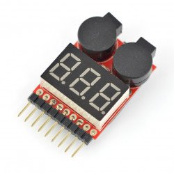 Li-pol 2-8S voltage indicator with buzzer