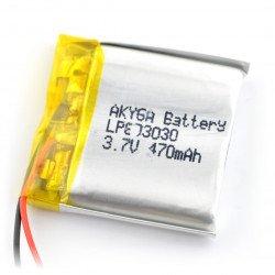 Li-Pol Akyga 470mAh 1S 3.7V Li-Pol Akyga battery