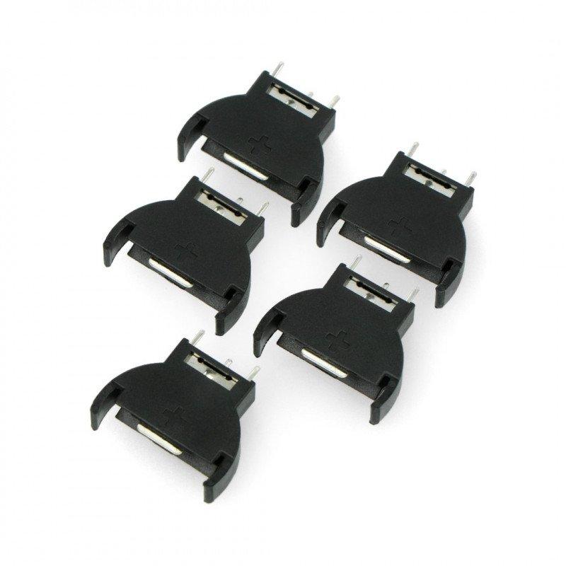 Battery cradle type CR2032 3V vertical