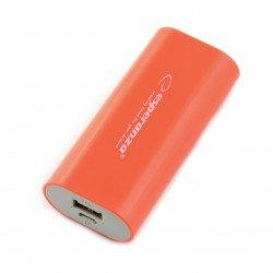 Mobile PowerBank battery Esperanza Hadron EMP105R 4400mAh red