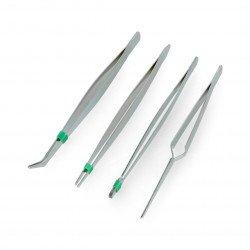 Set of tweezers - 4 pieces.