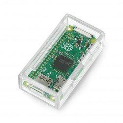 Raspberry Pi Zero Pi Supply plastic housing - transparent