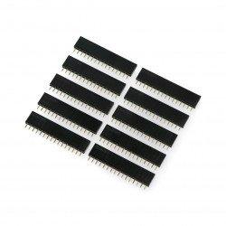 Socket 1x16pin - 2,54mm