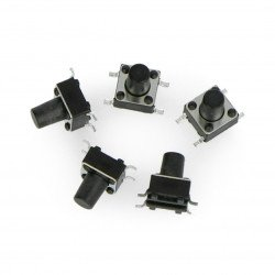 Tact Switch 6x6mm / 8mm SMD 5pcs