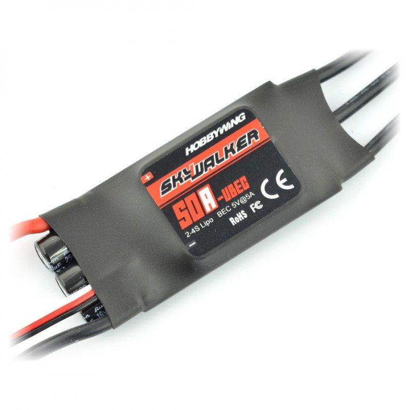SkyWalker 50A ESC UBEC 2-4S brushless motor controller
