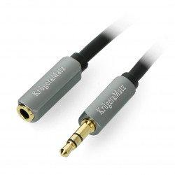 Kruger&Matz cable 3.5mm jack - 3.5mm stereo black jack - 1.8m