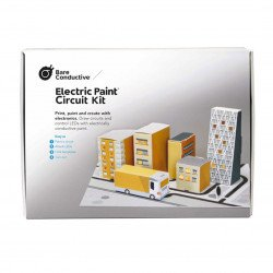 Bare Conductive Electric Paint Circuit Kit - a glowing model of the city