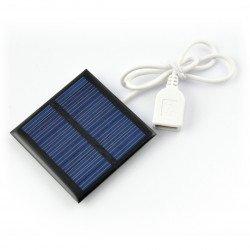 Solar cell 0.6W / 5.5V 65x65x3mm USB