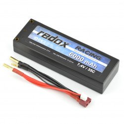 LiPol Redox Racing package 6000mAh 35C 2S 7.4V