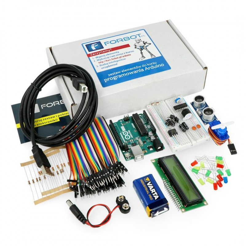 The basics of the Arduino - a set of elements with Arduino Uno + free course ON-LINE