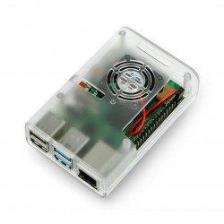 Raspberry Pi 4B housing with fan - transparent