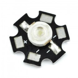Power LED Star 3 W - red with heat sink