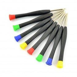 Set of precision screwdrivers NZ6 - 8pcs.