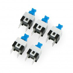 Microswitch bi-stable ON-ON 7x7mm - 5 pcs