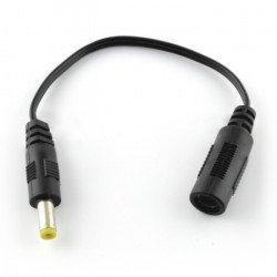 DC 5,5/2,1 socket adapter - DC 4,8/1,7 plug