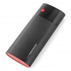 Mobile battery PowerBank Esperanza EMP115KC 13800mAh - black and maroon