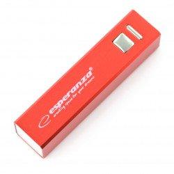 Mobile battery PowerBank Esperanza Erg EMP102R 2400mAh - red