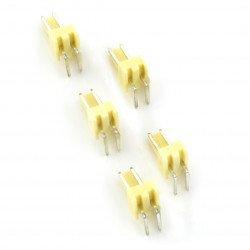 2,54 mm - angular plug 2-pin - 5 pcs
