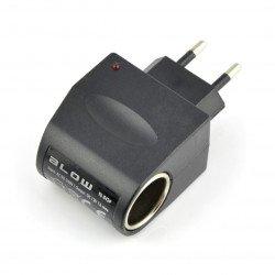 Voltage adapter 230V/12V with lighter clip - 1A