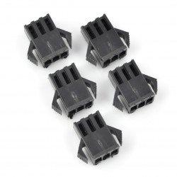 3-pin female socket housing - 2.5mm raster