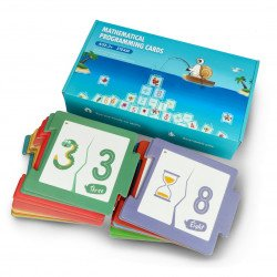 The cards of the mathematician to the Qobo Robobloq robot