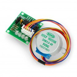 Stepper motor with gear 28BYJ-48 5V 0.3A 0.03Nm with ULN2003 controller