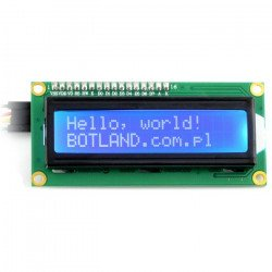 LCD display 2x16 characters blue + I2C LCM1602 converter