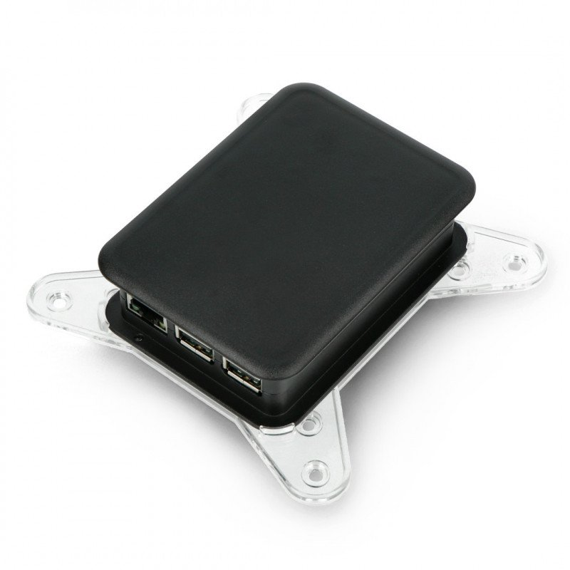 VESA mount case for TEKO Raspberry cases - transparent_