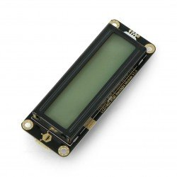 DFRobot Gravity - 2x16 I2C LCD display with RGB backlight - for
