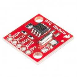 RTC DS1307 I2C - real-time clock + battery - SparkFun BOB-12708*