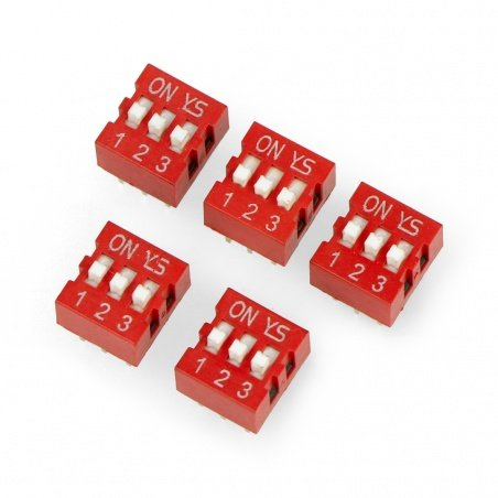 DIP switch 3-field switch - red
