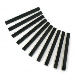 Single Row 2x40 raster 2,54mm female - 10pcs.